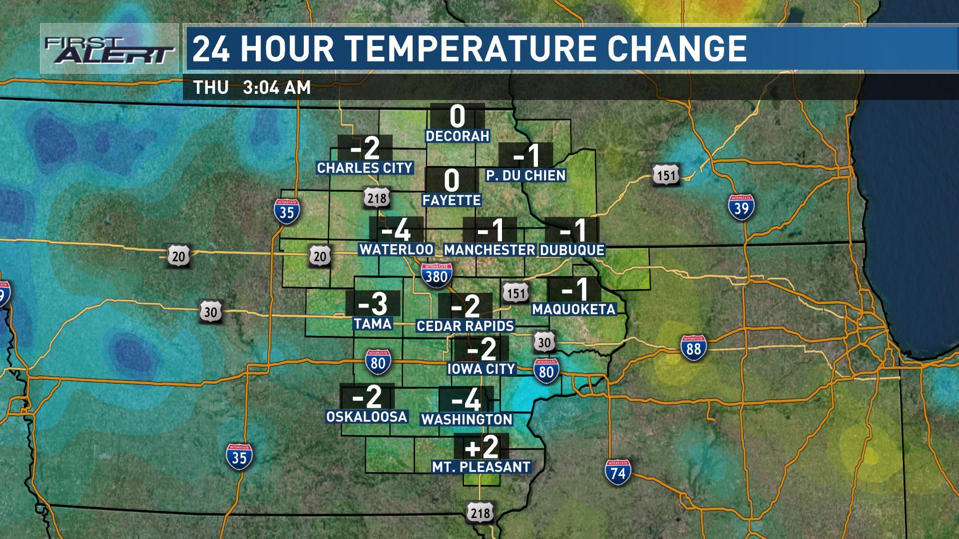 24-Hour Temperature Change